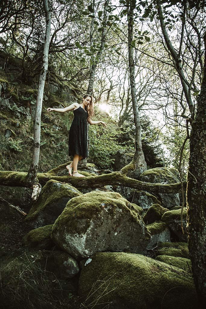 Einzelshooting im Wald