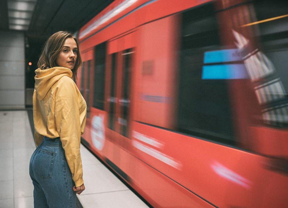 Fotoshooting im U-Bahnhof