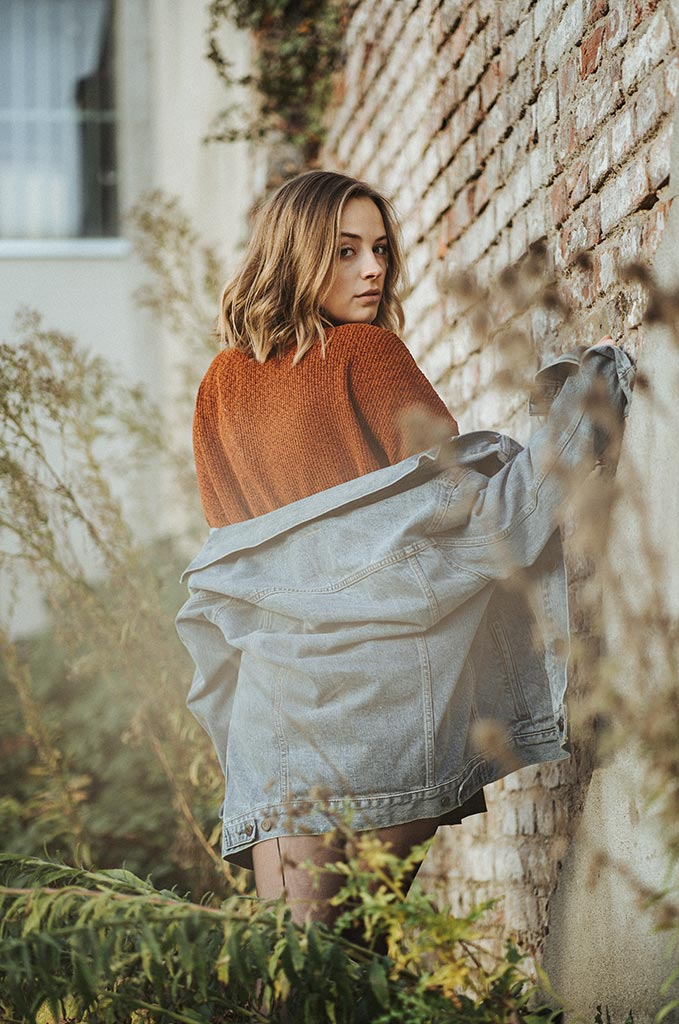 Fotoshooting mit Portraitmodel