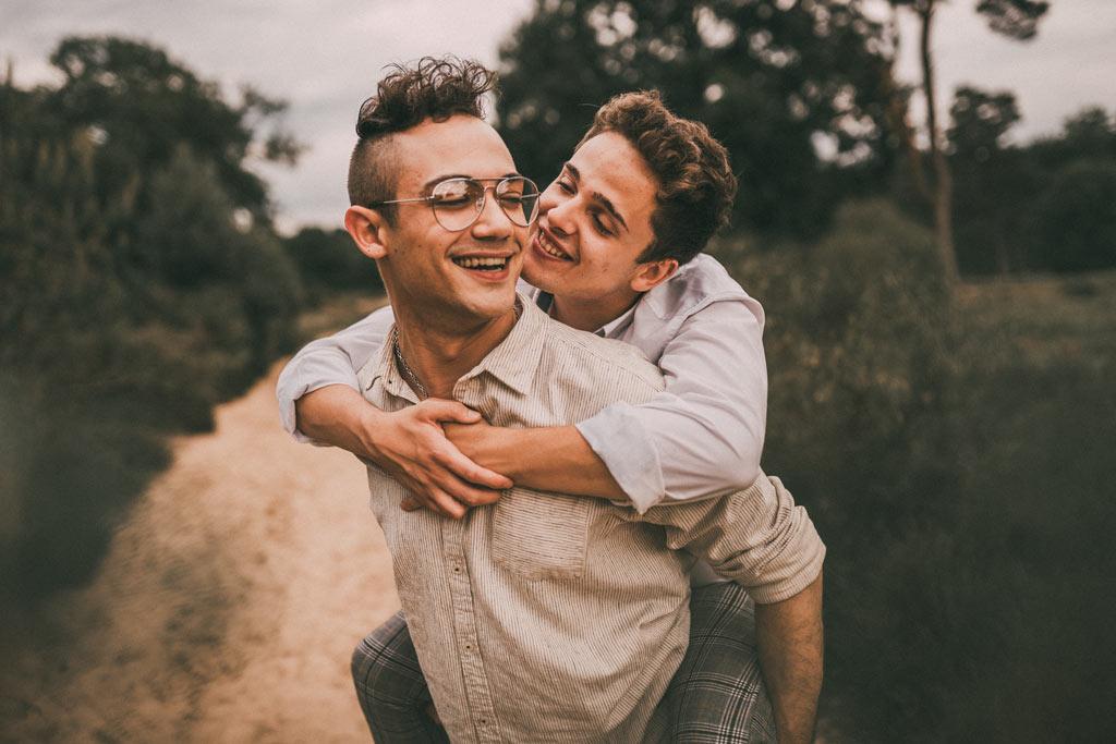 Schwules Paar Fotoshooting Wahner Heide