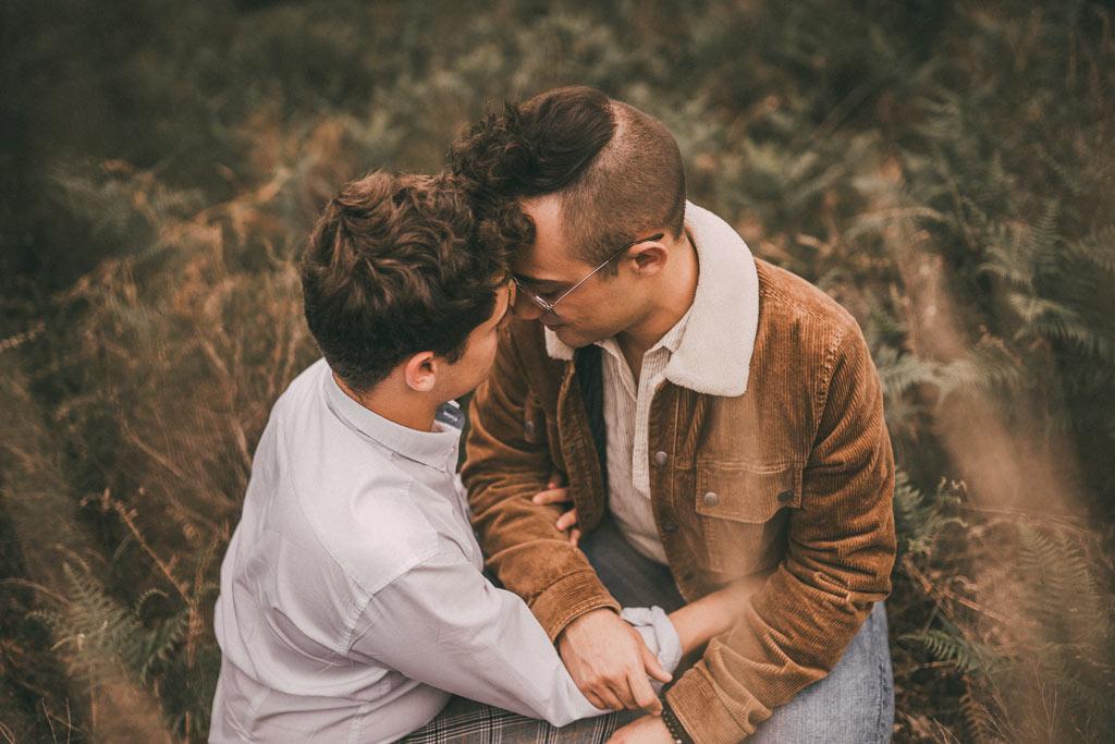 Schwules Paar in der Wahner Heide Paarshooting