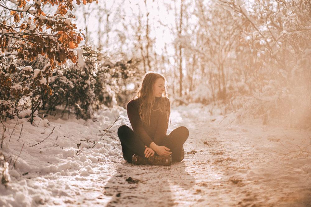 Fotoshooting bei Sonne im Schnee