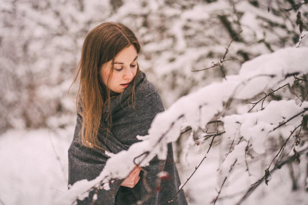 Portraitshooting im Schnee Schneeshooting in Siegen