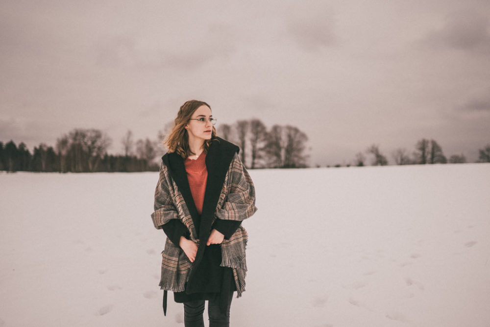 Fotoshooting im Schnee Winter