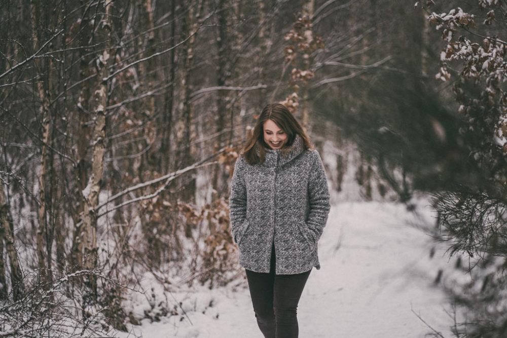 Spaziergang im Schnee Fotoshooting Siegen