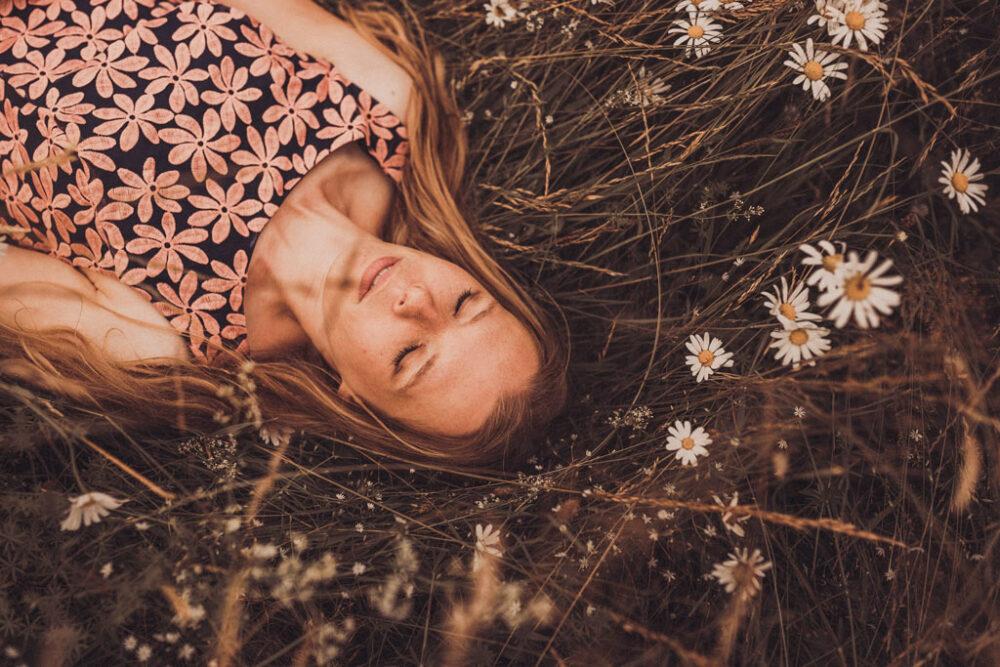 Blumenwiese Portraitshooting